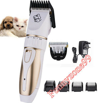 4 in 1 Pro Pet Cat Dog Rabbit Grooming Kit Hair Cutter Trimmer Clipper Shaver UK