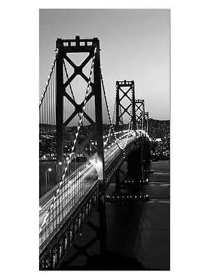 HD GlasBild, Wandbilder XL 50 x 100 cm, EG4100502433 BAY BRIDGE SAN FRANCISCO S/