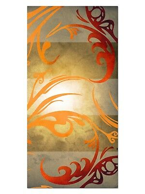 HD GlasBild, Wandbilder XL 50 x 100 cm, EG4100501946 KUNST DESIGN ORANGE ABSTRAK