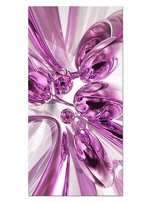 HD GlasBild, Wandbilder XL 50 x 100 cm, EG4100502282 BUBBLES DESIGN PINK ABSTRAK