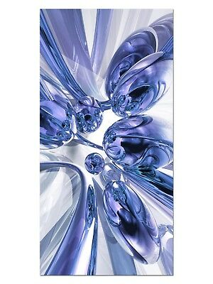HD GlasBild, Wandbilder XL 50 x 100 cm, EG4100502283 BUBBLES DESIGN BLAU ABSTRAK