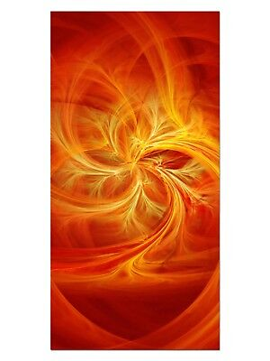 HD GlasBild, Wandbilder XL 50 x 100 cm, EG4100502090 FIRE FLY MODERN ORANGE ABST