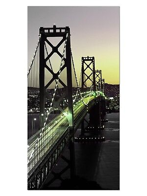 HD GlasBild, Wandbilder XL 50 x 100 cm, EG4100502423 BAY BRIDGE SAN FRANCISCO GR