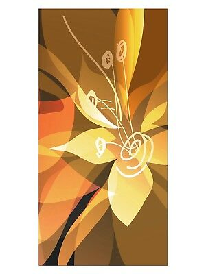 HD GlasBild, Wandbilder XL 50 x 100 cm, EG4100502262 BLUME ABSTRAKT ORANGE FLORA
