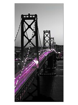 HD GlasBild, Wandbilder XL 50 x 100 cm, EG4100502426 BAY BRIDGE SAN FRANCISCO PI