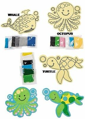 Sea Life Sand Art Kit - Whale-Octopus-Turtle - Choose 1 Or All 3 Designs