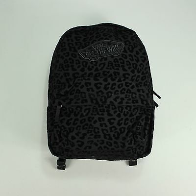 Vans Realm Black Leopard Print Backpack/Rucksack/Shoulder Bag