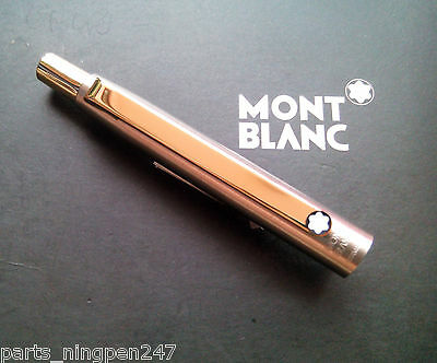 1X Montblanc Slim Line Ballpoint No.2938 Stainless Steel & Gold Cap Part Pen NOS