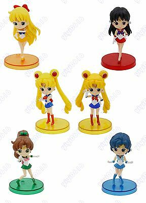 Anime Sailor moon character mini cute girl figure 6 types Qposket petit with box