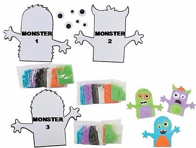 Monster Sand Art Kit - Various Designs / Shapes - Choose 1 Or All 3 Designs