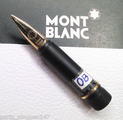 Montblanc Noblesse Fountain Pen No.2118 OB Gold Plated Nib Part New Old Stock
