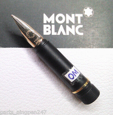 Montblanc Noblesse Fountain Pen No.2118 OM Gold Plated Nib Part NOS • CAD $87.27