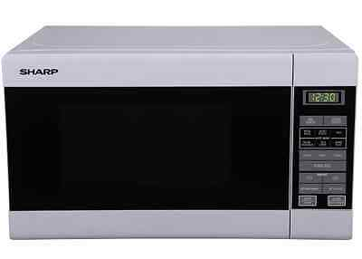 New Sharp 20L Compact Microwave Oven (White) R210Dw