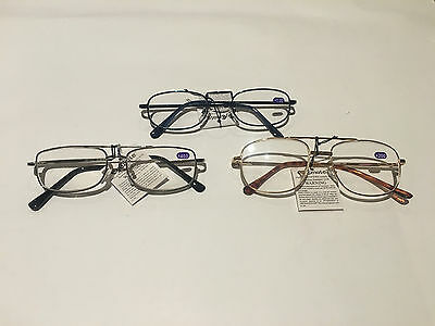 4 Pairs Adults Unisex Mens Australian Standard Metal  Reading Glasses +1.0~+4.0
