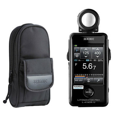 Sekonic L-478DR-U Lightmeter With USA Radio Frequency + Case & 3-Year Warranty