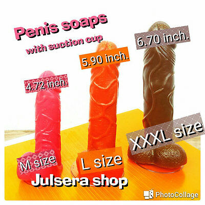 Penis soap with suction cup. 3 sizes. Big penis!!! Bachelorette party joke gift.
