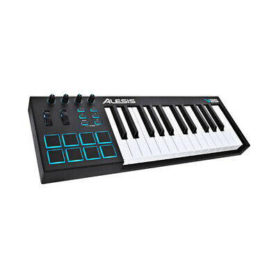 Alesis 25 Key USB MIDI Keyboard & Drum Pad Controller 8 Pads 4 Knobs 4 Buttons