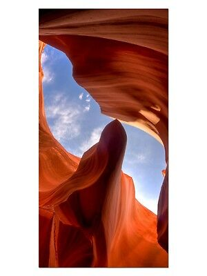 HD GlasBild, Wandbilder XL 50 x 100 cm, EG4100502074 HÖHLE GRAND CANYON ORANGE L