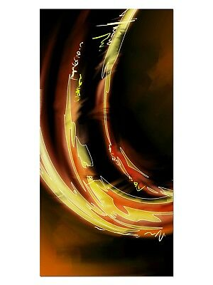 HD GlasBild, Wandbilder XL 50 x 100 cm, EG4100501820 MODERN PAINT ORANGE ABSTRAK