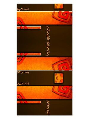 HD GlasBild, Wandbilder XL 50 x 100 cm, EG4100501863 DESIGN STYLE ORANGE ABSTRAK