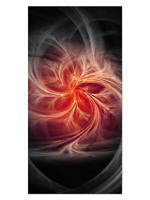 HD GlasBild, Wandbilder XL 50 x 100 cm, EG4100502345 FIRE FLY DESIGN ROT ABSTRAK