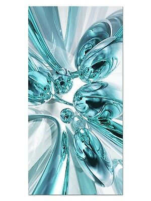 HD GlasBild, Wandbilder XL 50 x 100 cm, EG4100502284 BUBBLES DESIGN TÜRKIS ABSTR