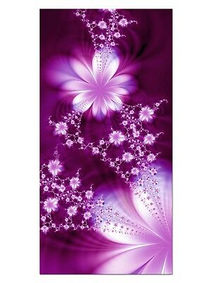 HD GlasBild, Wandbilder XL 50 x 100 cm, EG4100502203 FLOWER FLY DESIGN LILA ABST