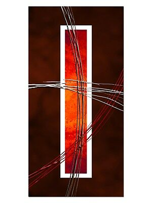HD GlasBild, Wandbilder XL 50 x 100 cm, EG4100501970 MODERN CLASSIC ORANGE ABSTR