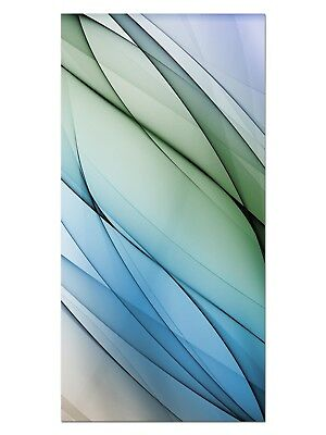 HD GlasBild, Wandbilder XL 50 x 100 cm, EG4100502327 FANCY FADES BLAU ABSTRAKT