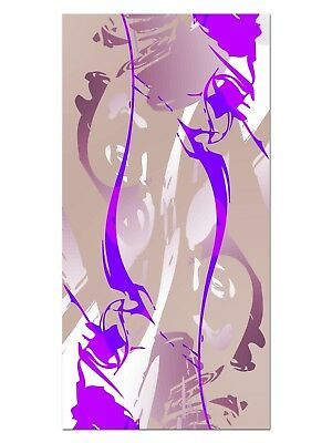 HD GlasBild, Wandbilder XL 50 x 100 cm, EG4100502031 MODERN PATTERN PURPLE ABSTR