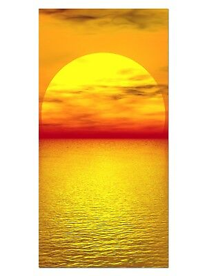 HD GlasBild, Wandbilder XL 50 x 100 cm, EG4100502059 SONNE MEER ORANGE LANDSCHAF