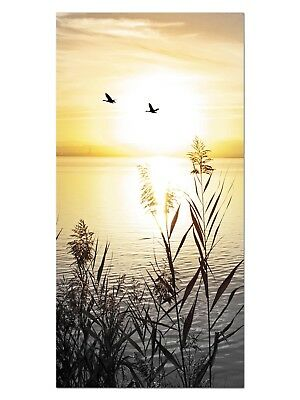 HD GlasBild, Wandbilder XL 50 x 100 cm, EG4100502419 SEE SONNENUNTERGANG ORANGE