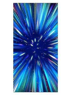 HD GlasBild, Wandbilder XL 50 x 100 cm, EG4100502068 SUPERNOVA STAR BLAU ABSTRAK