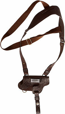 holster for pistol brown leather horizontal and vertical new