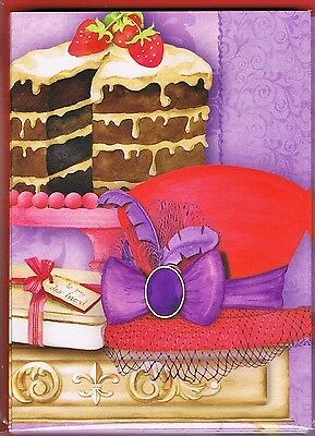 Red Hat Society - 10  Small Cards & Red Envelopes