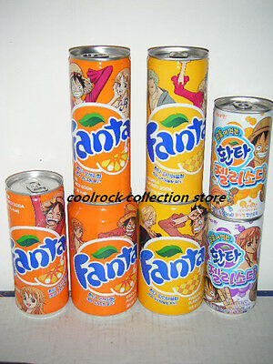 2016 Korea fanta One Piece 7 cans set empty