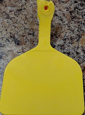 Z Feedlot Ear Tags for Cattle ID Yellow 50ct
