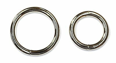 HEAVY  DUTY 4 mm WELDED Metal ROUND O RINGS 25 mm ( 1 Inch ) and 20 mm Fastening