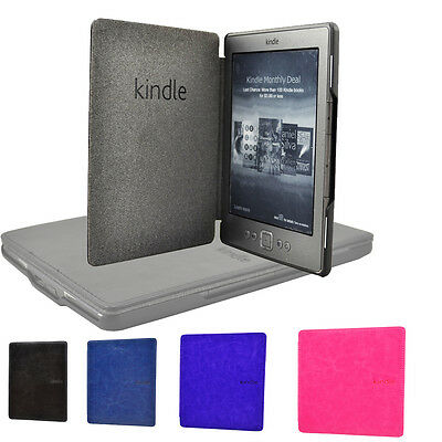 Ultra Slim Leather Smart Magnetic Case Wake Sleep Cover For Amazon Kindle 4 5