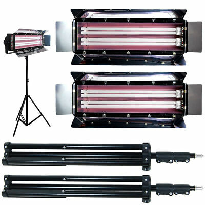 1100W Photo 2-Bank Continuous Lighting Digital Video Fluorescent 2 Light Photo S