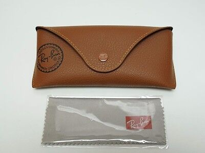 Ray-Ban Soft Slim Case Eyeglass Holder - Original Brown - AUTHENTIC / RX15A/30
