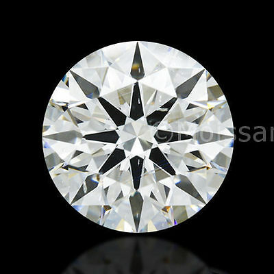 Lovely 1.09 ct 6.90 mm G-H Color White Loose Moissanite Round Brilliant Cut MI
