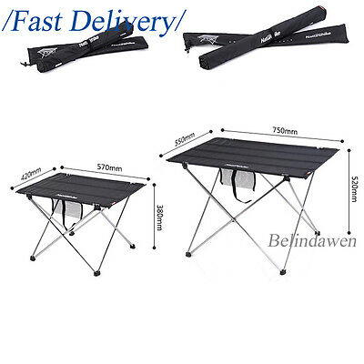 HOT Folding Dining Table Desk Lightweight For Outdoor Camping Hiking Garden BBQ