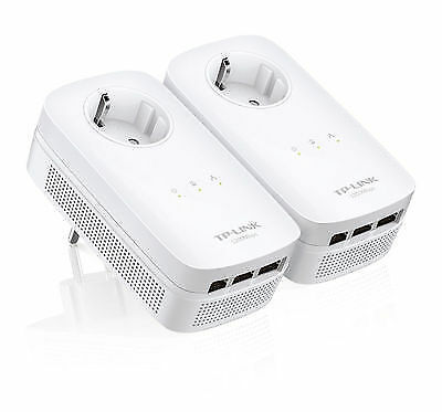 TP-Link Powerline TL-PA8030P KIT AV1200 3-Port Gigabit Passthrou EU Plug