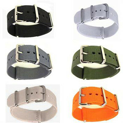 Men's Nylon Sport Wrist Watch WatchBand Strap Infantry Military Army 18/20mm GS