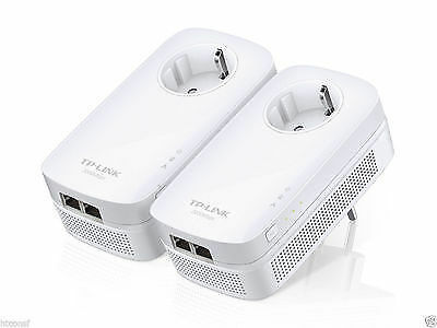 TP-Link TL-PA9020P AV2000 2-Port Gigabit Passthrough Powerline Starter Kit EU Pl