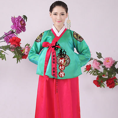 Hot New Luxury Korean Traditional Clothes Dress HANBOK WOMAN with silver hanbok