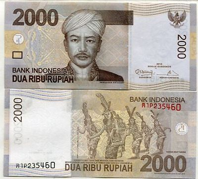 2012 Indonesia 2000 Rupiah Banknote - UNC