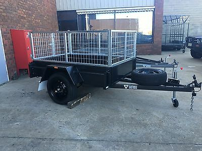 NEW 6x4 Heavy Duty Box Trailer with Removable Cage