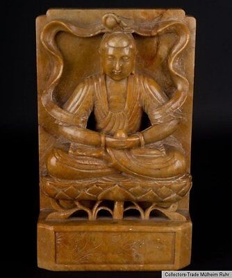 China 20. Jh. Buchstütze - A Chinese Soapstone Buddha Bookend - Cinese Chinois